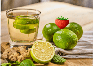 Flat Tummy Lime Strawberry Water