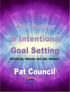 Intentional Goal Setting