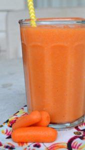 carrot, grapefruit smoothie